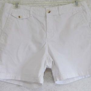 Dockers Ladies Shorts White Sze 12 Cotton Elastanr